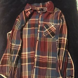 Flannel long sleeve Button down Small